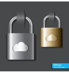 Lock cloud icon vector