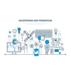 Marketing advertising planning online business vector