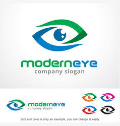 modern eye logo template design vector image