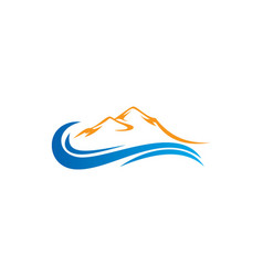Mountain water abstract logo vector