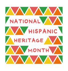 National hispanic heritage lettering vector