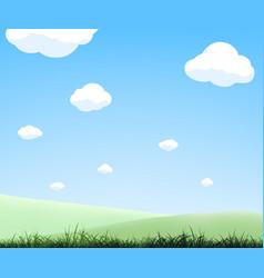 natural landscape summer background vector image
