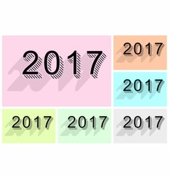 New year 2017 text design vector image vector image