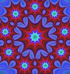 Nine branched star mandala fractal design vector