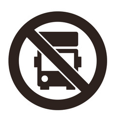 No lorry parking sign vector