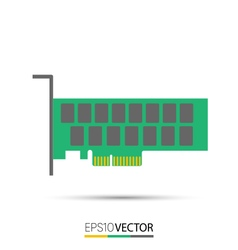 Pcie solid state drive ssd vector