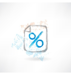 percentage grunge icon vector image