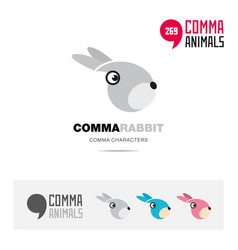 Rabbit animal concept icon set and logo brand vector