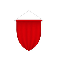 Realistic blank pennant template red blank 3d vector