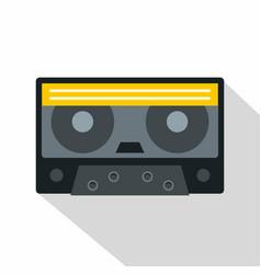 Retro cassette tape icon flat style vector