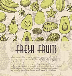 Seamless background with fruits which is ideal for vector