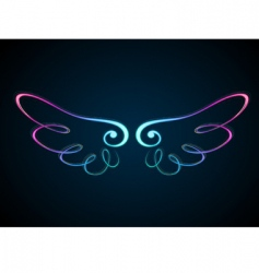 shining wing vector image
