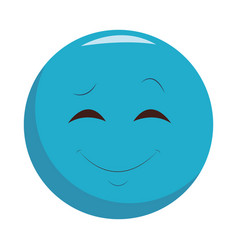 smiling chat emoticon vector image