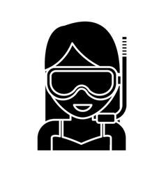 snorkel mask design vector image