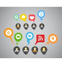 Social media network vector image