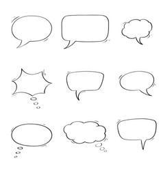 speech bubbles chat symbols outline icons vector image