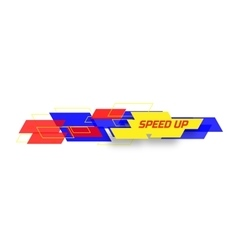 Speed up design concep vector image vector image