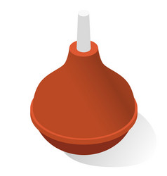 squeeze bulb realistic icon rubber rectal syringe vector image
