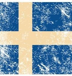 Sweden retro flag vector