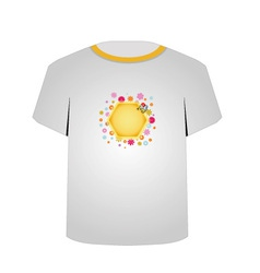 T Shirt Template- cute honeybee vector