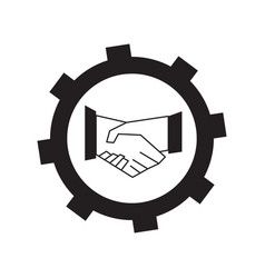 Teamwork concept icon vector
