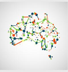 technology image of australia vector image