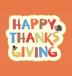Thanksgiving card design vector