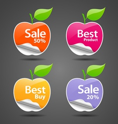 apple sale price tag vector image vector image