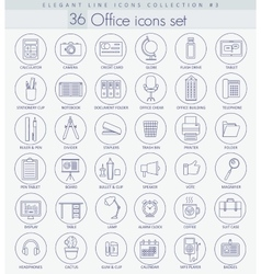 Office Outline icon set Elegant thin line vector image vector image