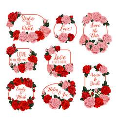 springtime flowers frames for wedding vector image