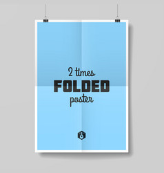 Two times folded poster vector image vector image