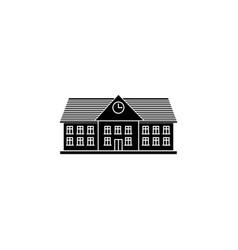 University solid icon school and building vector