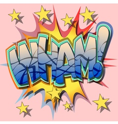 wham vector image vector image