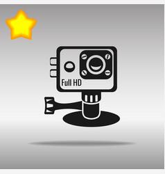 Action camera black icon button logo symbol vector