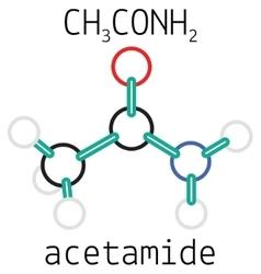 C2H5NO acetamide molecule vector image