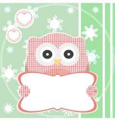 cute pattern owl vector image vector image