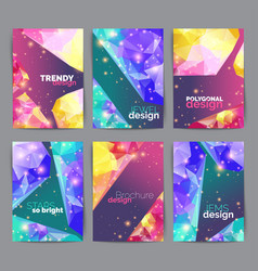 abstract fashion posters business card set vector image