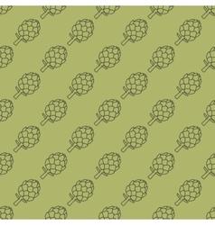 artichoke green seamless pattern vector image