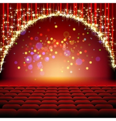 cinema stars film vector image vector image