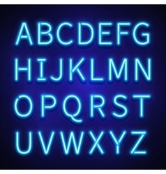 Glowing neon lights signs typeset letters vector image