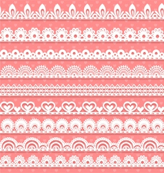 Large set of openwork lace borders for your design vector image vector image