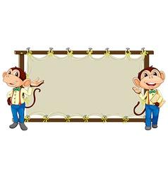 Monkey banner vector image vector image