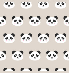 panda faces seamless pattern vector image vector image
