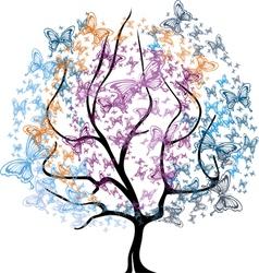 Tree in Baterffly vector image