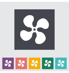 icon fan vector image