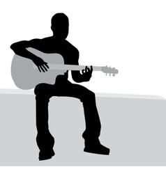 Man playing guitar vector image