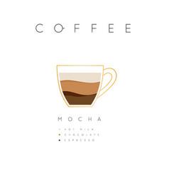 Poster coffee mocha white vector