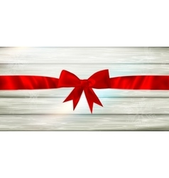 Red ribbon and bow EPS 10 vector image vector image