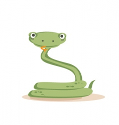 snake isolated vector image vector image