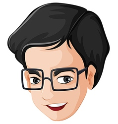 A head of a happy man with an eyeglass vector image